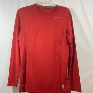 Nike Dri Fit Long Sleeve Men's Red Small